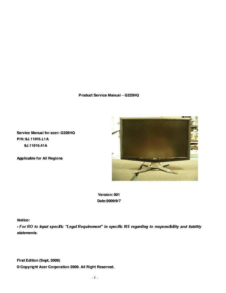 Acer h233h manuals.