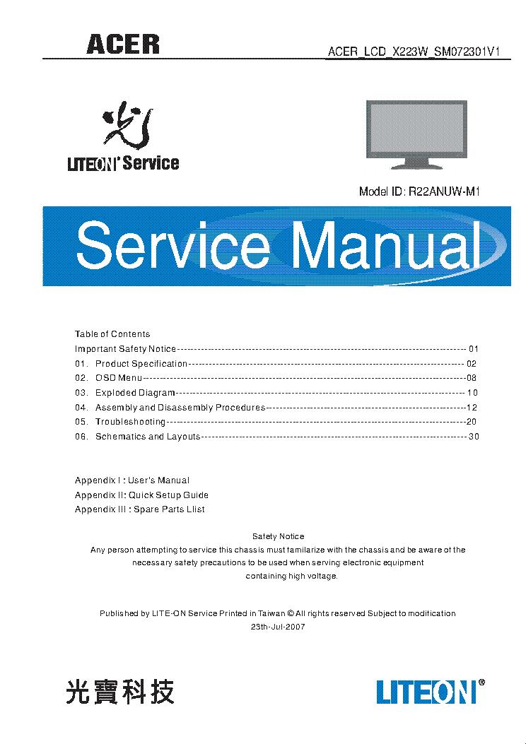 Acer aspire m3641 Manual Pdf