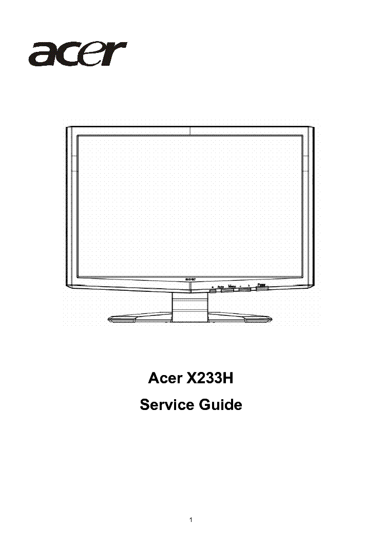 acer x233h lcd monitor service manual download schematics eeprom rh elektrotanya com lcd monitor disassembly guide lcd monitor buying guide