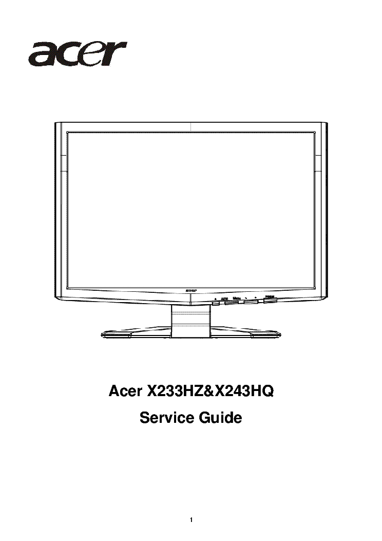 Drivers Update: Acer X233HZ