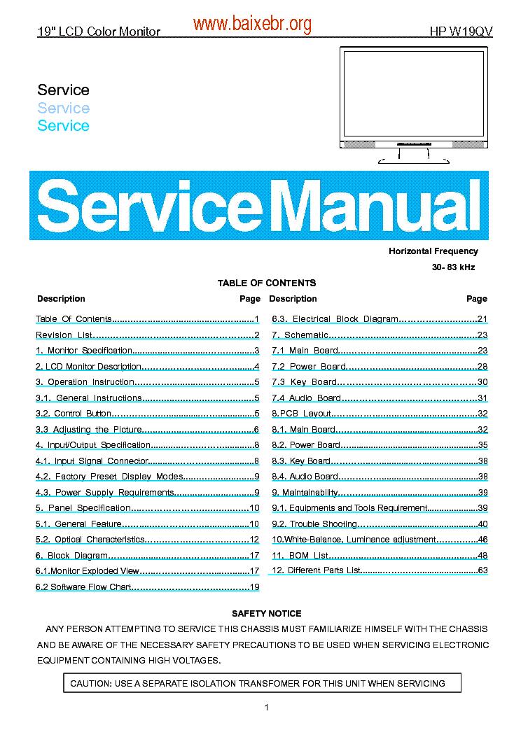 aoc 7vlr 7vlrplus 7vlra sm service manual download schematics rh elektrotanya com