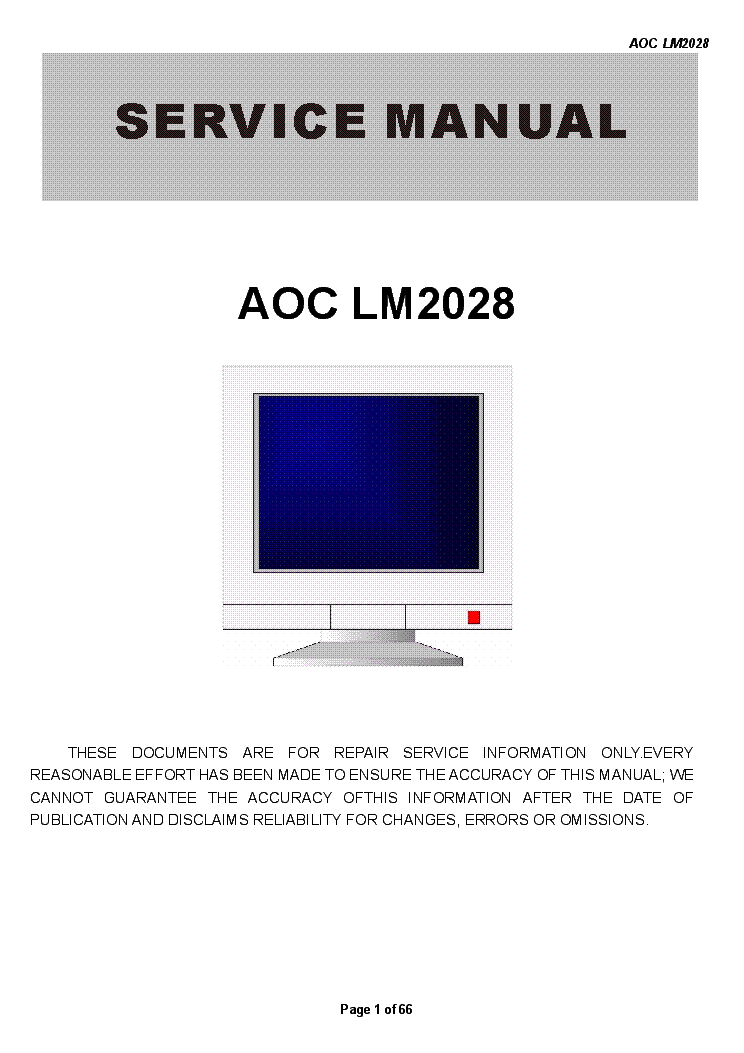 DOWNLOAD DRIVERS: AOC LM2028