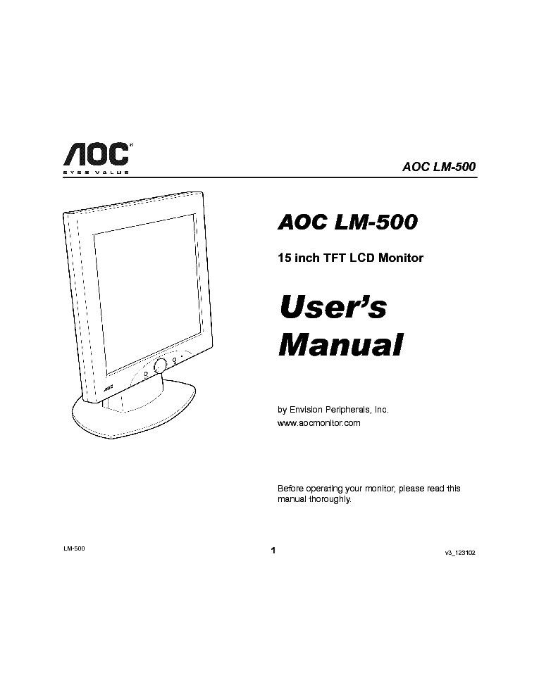 aoc 715l xx lcd inverter service manual download
