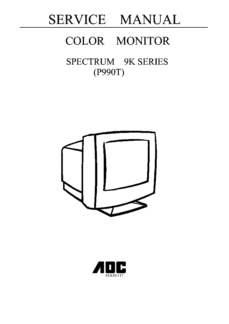 aoc s995t p990t spectrum 9k series service manual download