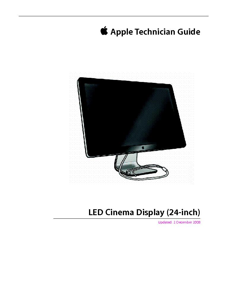 Apple Led Cinema Display 24inch Service Manual Download