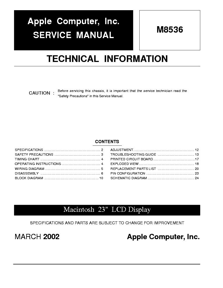 apple m8536 service manual download schematics eeprom repair info rh elektrotanya com apple service manual macbook pro 2011 apple service manuals complete collection