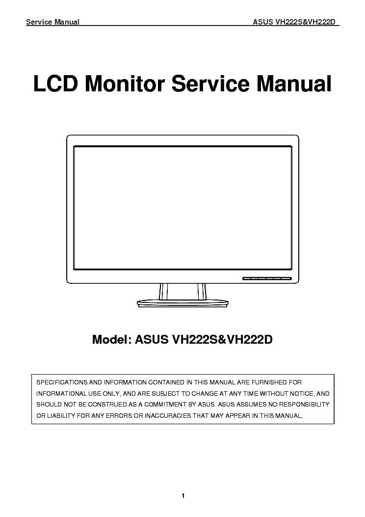 asus vx1 service manual