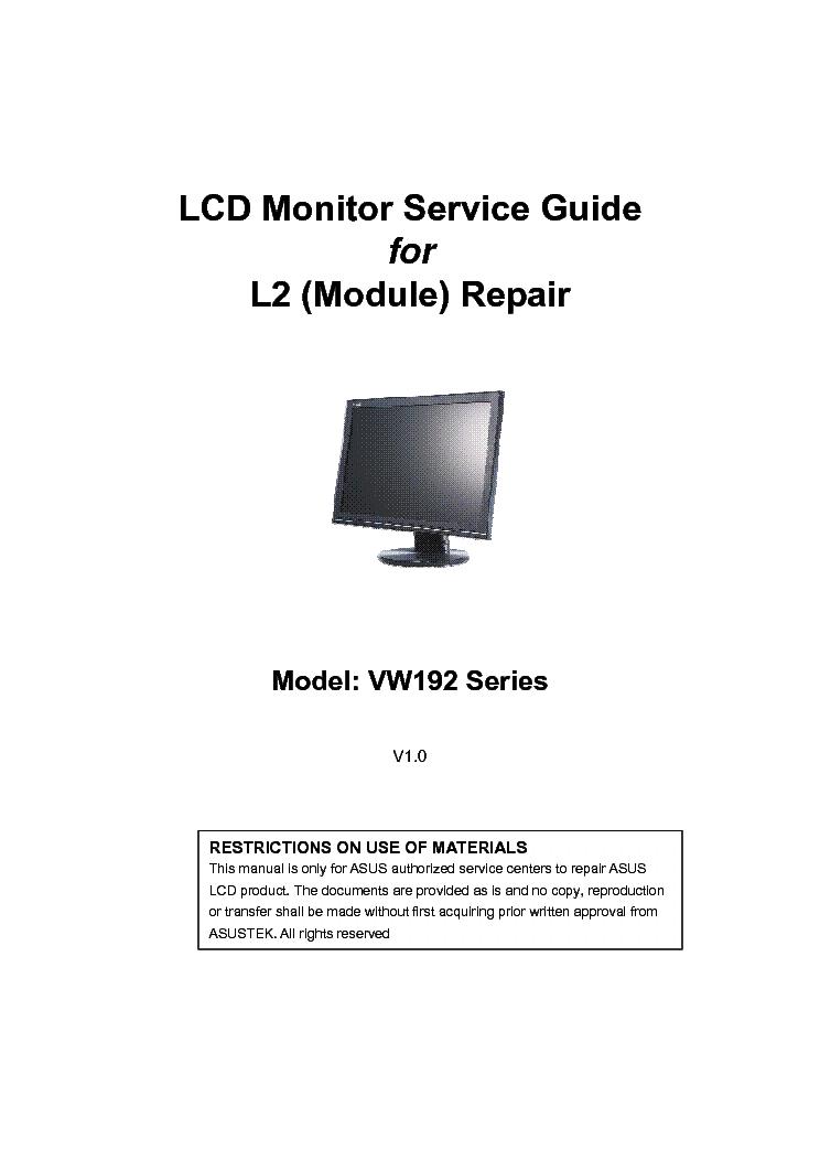 asus vw192 series t s d g ver1 0 service manual download schematics rh elektrotanya com asus maintenance and service guide Asu Measurement Chart