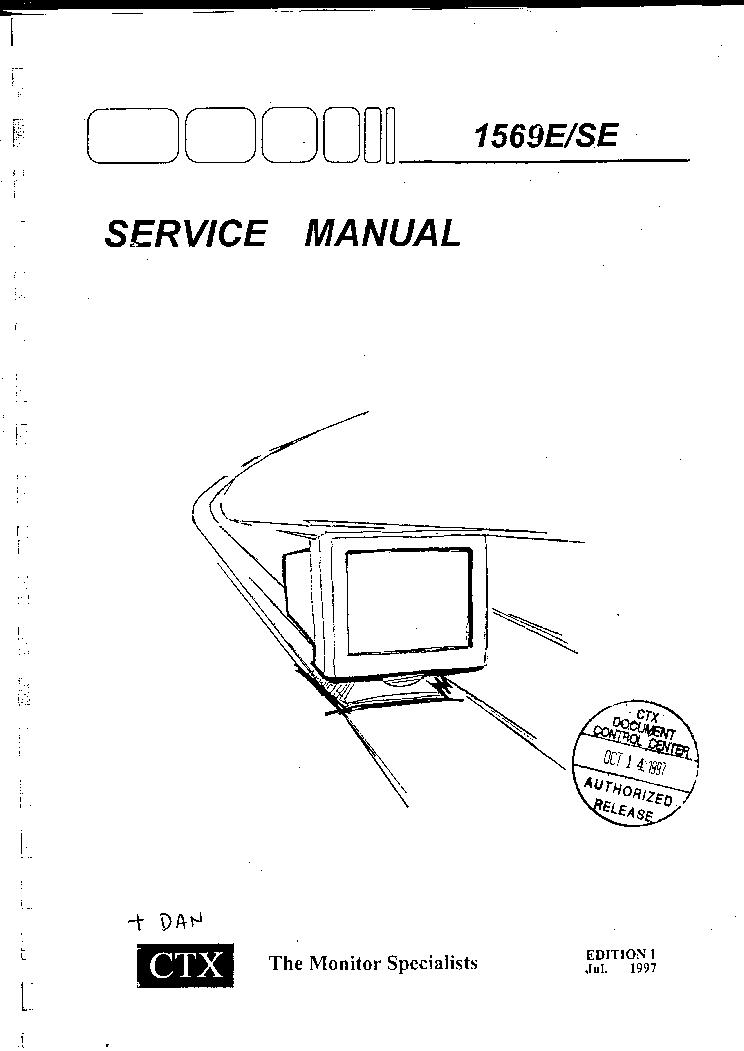 мануал монитор ctx model s700a