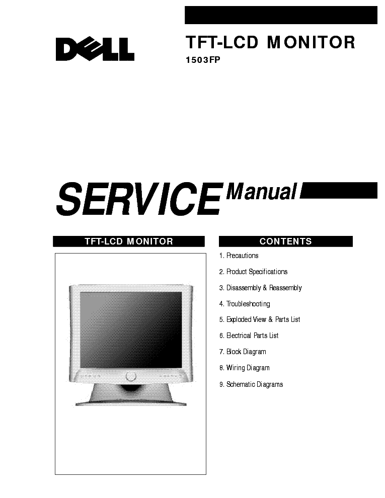 DELL 1503FP SM service manual (1st page)