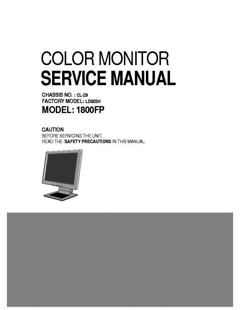 DELL 1800FP CL-29 LD803H service manual (1st page)