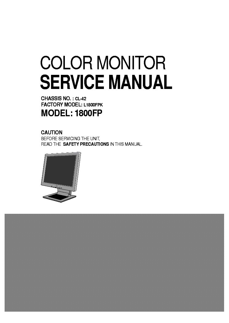 DELL 1800FP CL-42 L1800FPK service manual (1st page)