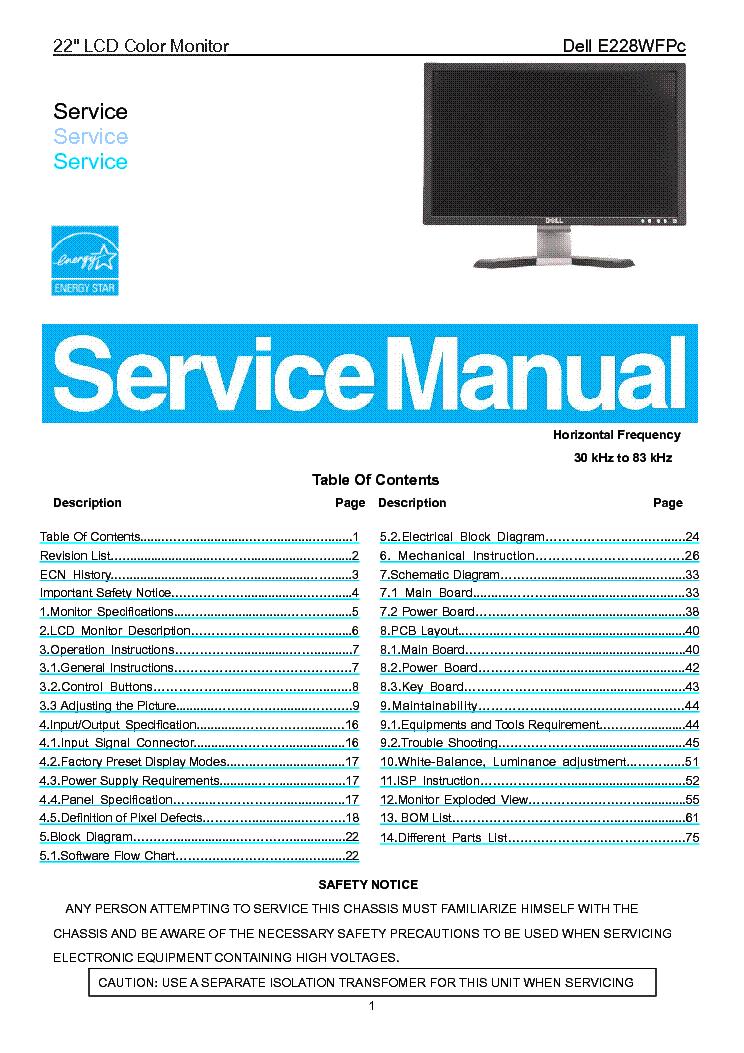 dell 1503fp sm service manual download schematics eeprom repair rh elektrotanya com LCD Inverter Schematic LCD TV Schematic