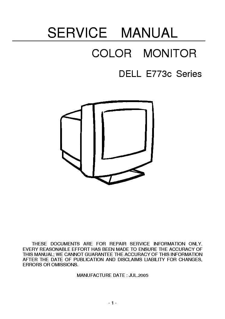 DELL E773C service manual (1st page)
