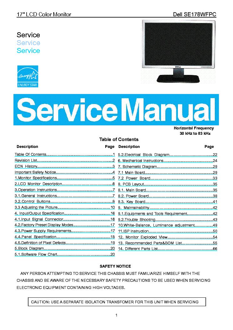 Dell Lcd Monitor 1503fp Service Schematics - Wire Data Schema •