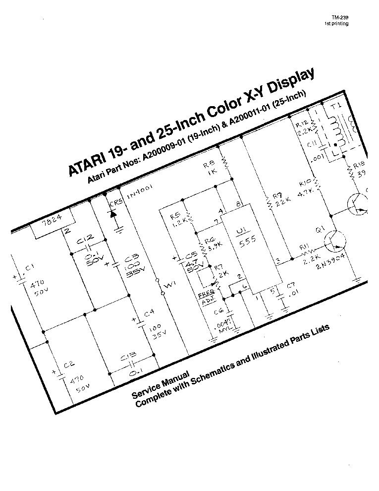 Atari 19 25inch Color X Y Display Service Manual Download