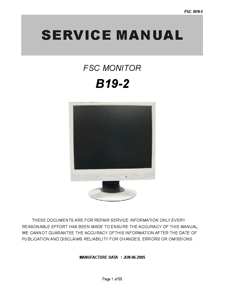 FUJITSU-SIEMENS SCENICVIEW B19-2 CI SM Service Manual