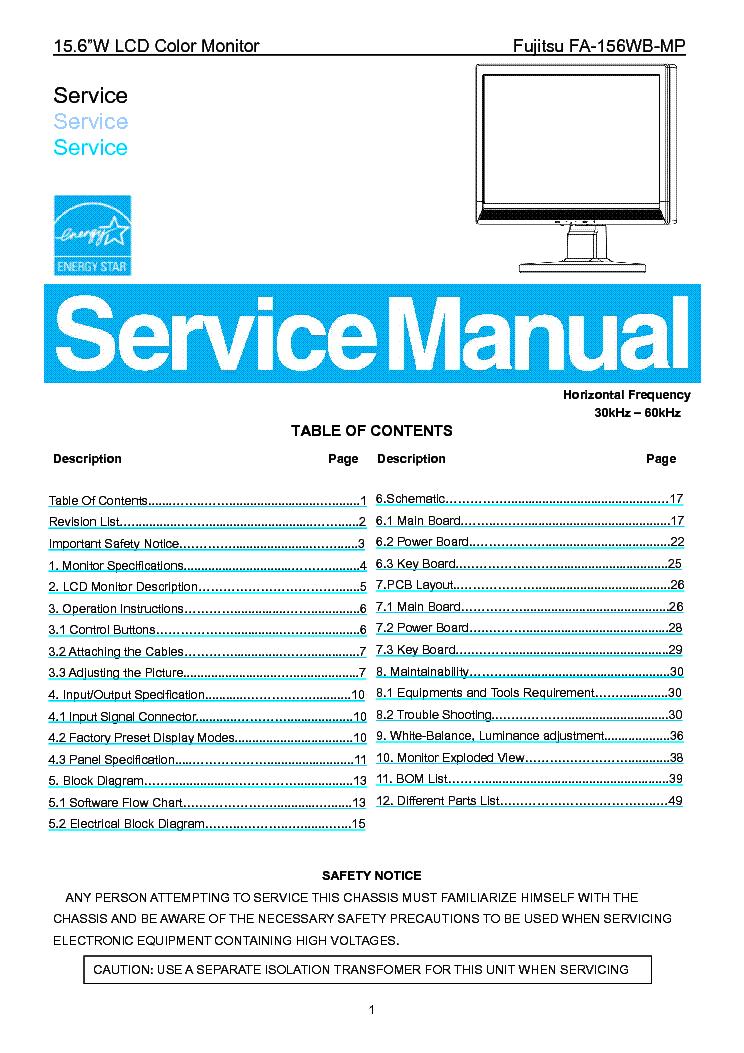 FUJITSU TE772B SM Service Manual download, schematics, eeprom ...