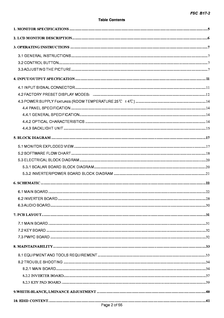 FUJITSU SIEMENS SCENICVIEW B17-2CI SM Service Manual