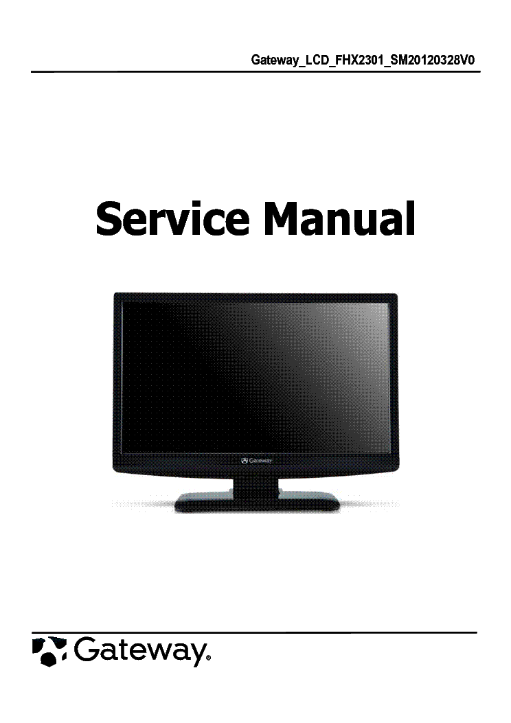 gateway fhx2301 lcd monitor service manual download schematics rh elektrotanya com gateway monitor hd 2200 manual gateway lp2207 monitor manual
