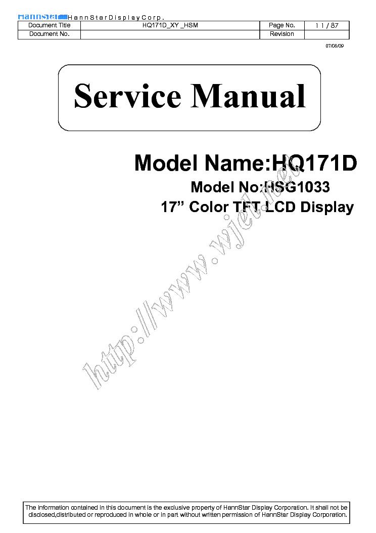Hw173a manual on