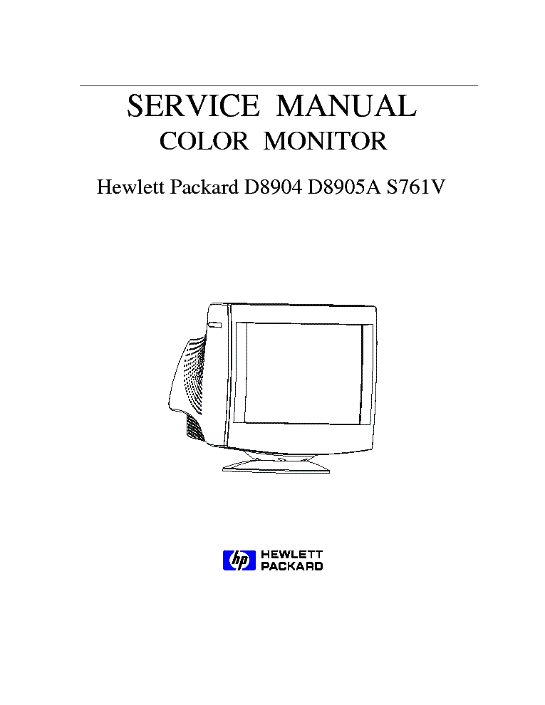 Hp L1950g Lcd Monitor Service Manual Download  Schematics