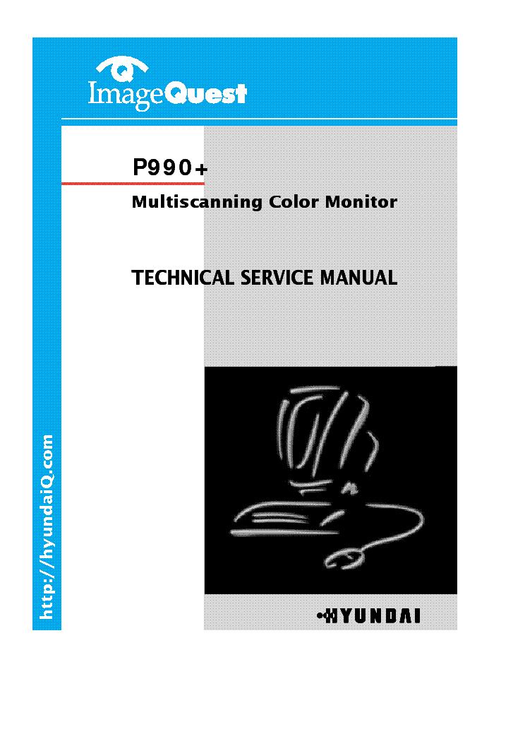 Hyundai P990 Monitor Sm Service Manual Download
