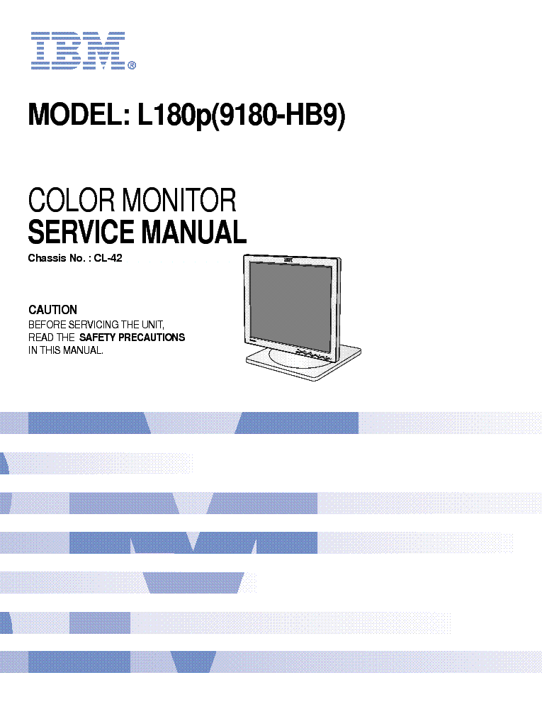 ibm l180p service manual download schematics eeprom repair info rh elektrotanya com ibm thinkvision monitor service manual IBM Monitor 2002