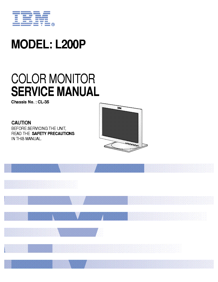 ibm l200p chassis cl 35 sm service manual download schematics rh elektrotanya com Old IBM Monitor IBM ThinkVision Monitor