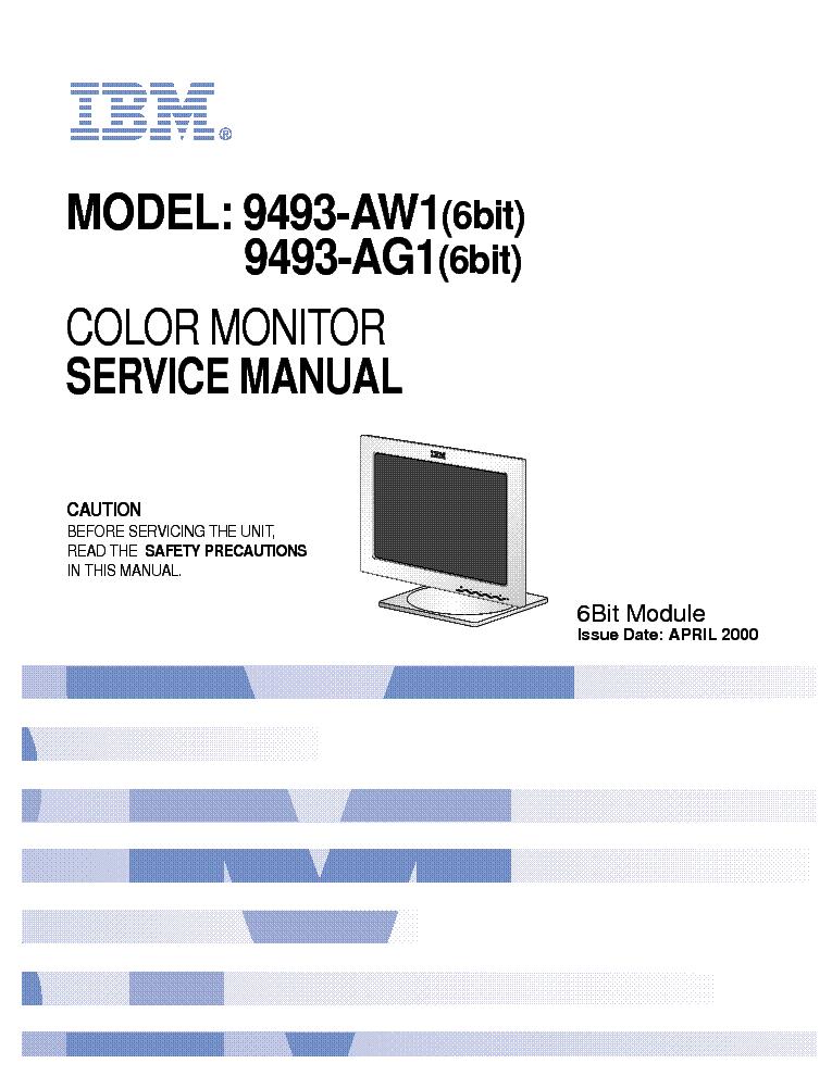 ibm t56a li571f 9493 aw1 lcd tft monitor sm service manual download rh elektrotanya com CRT Monitor Flat Panel Monitor