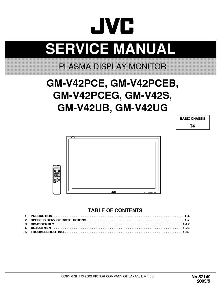jvc gm v42pcet4 service manual download schematics eeprom repair rh elektrotanya com