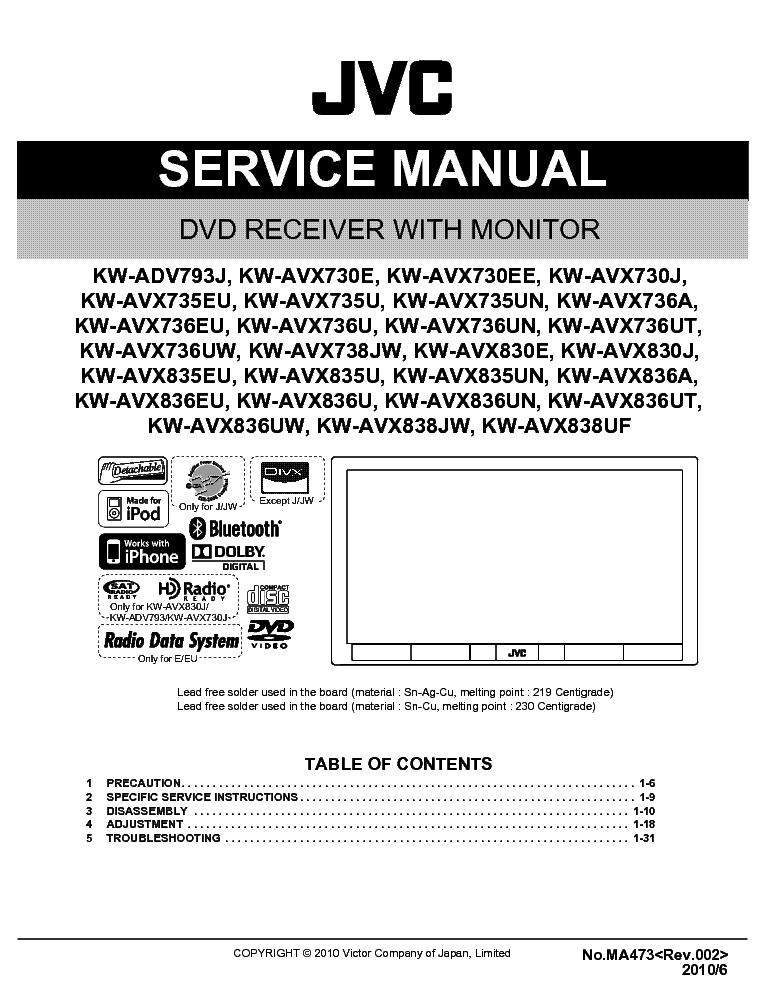 jvc kw adv793 avx730 735 736 738 830 835 836 service manual download rh elektrotanya com jvc l a110 turntable repair manual jvc l a110 turntable repair manual