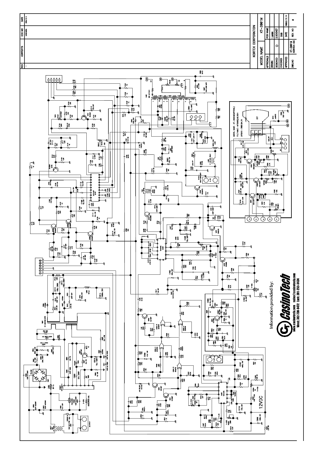 Kortek Kt2001m Service Manual Download  Schematics  Eeprom