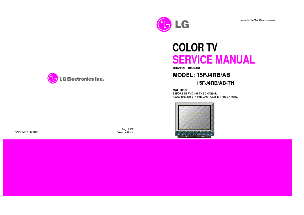 LG 15J4RB-AB MC059B service manual