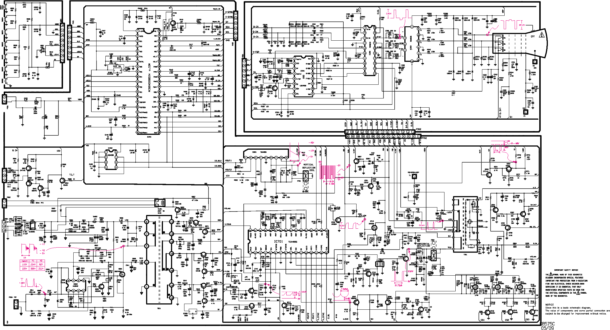 Lg flatron 775ft схема