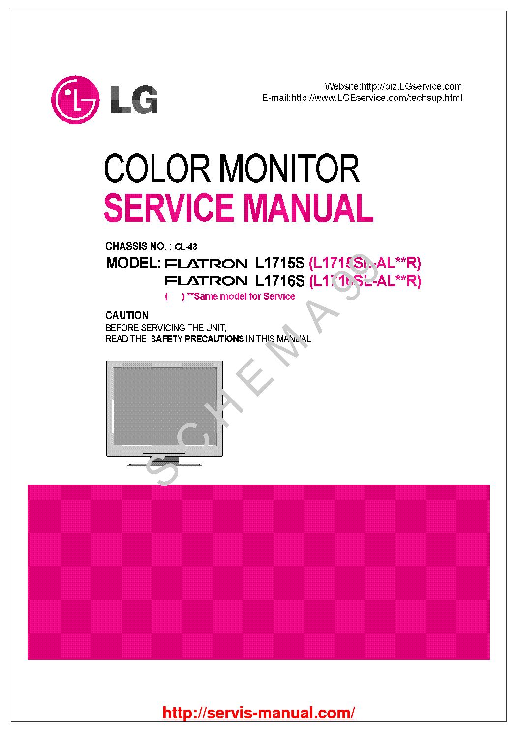 lg flatron ez t713sh service manual