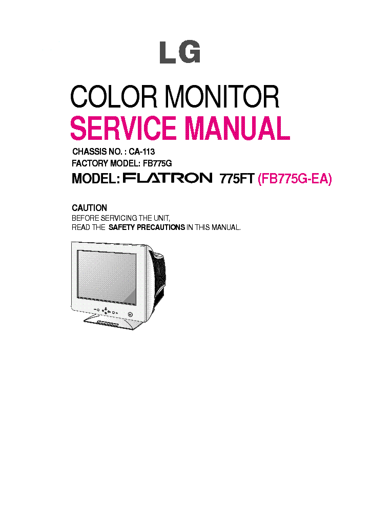 lg flatron 775ft service manual download schematics eeprom repair rh elektrotanya com lg flatron monitor manual lg flatron m2362d manual