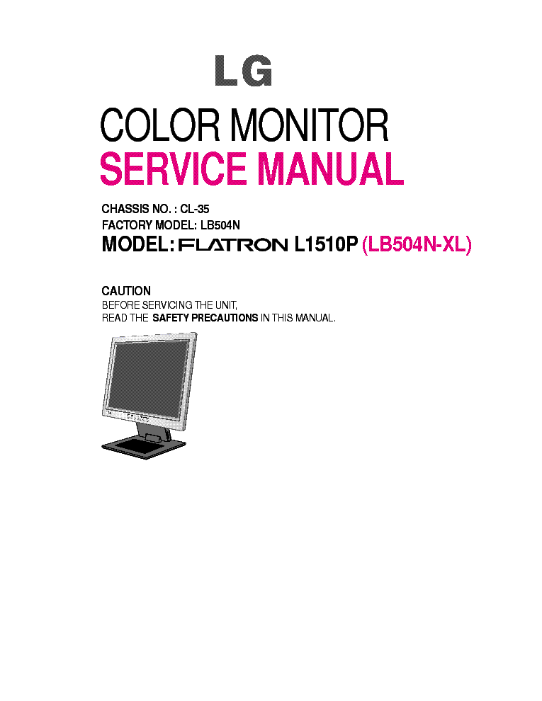 Lg Flatron L1710b Sm Repair Guide Service Manual Download