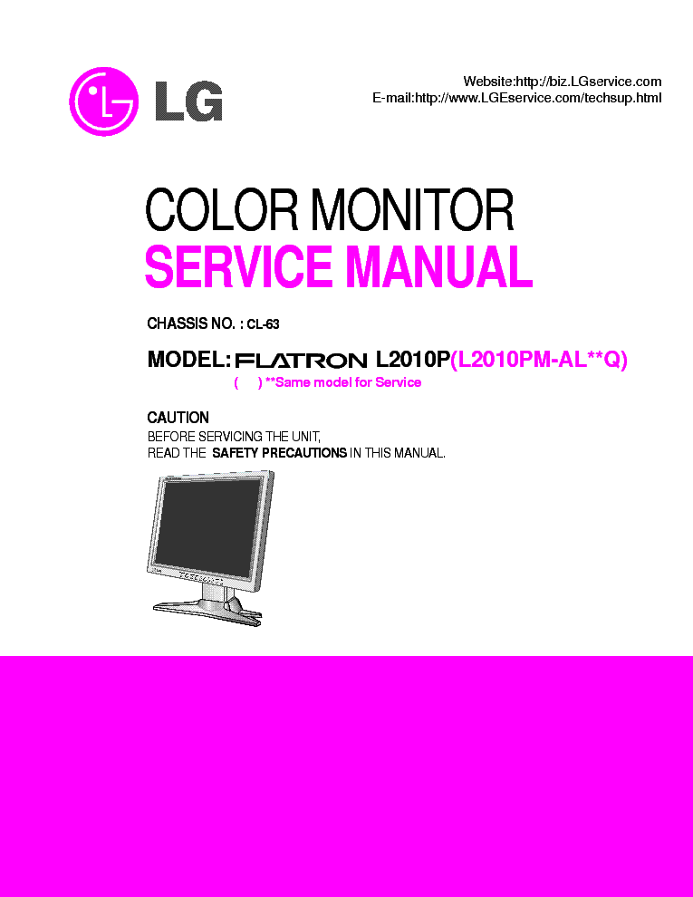 lg flatron l2010p sm repair guide service manual free. Black Bedroom Furniture Sets. Home Design Ideas