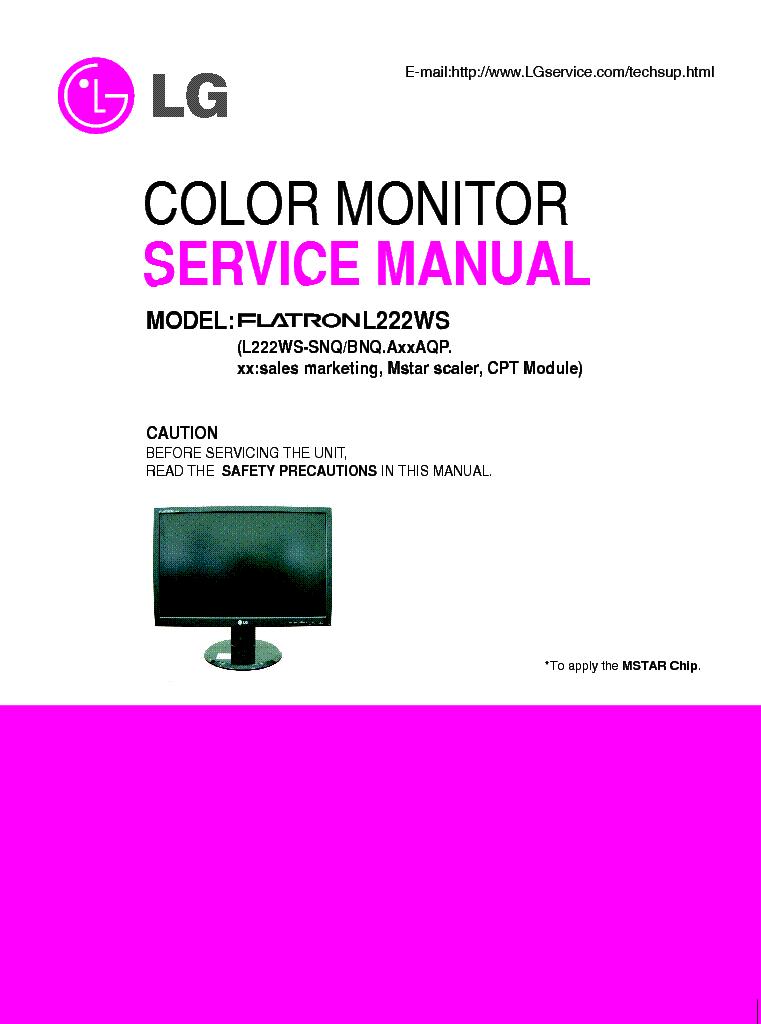 lg flatron l2323t manual