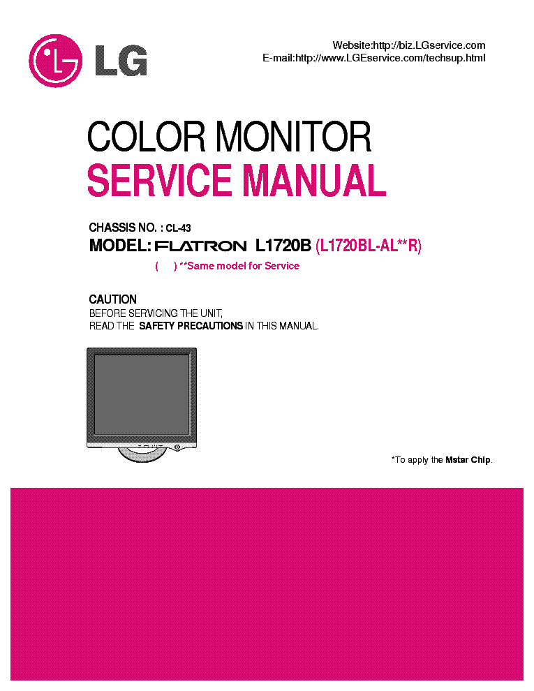 LG-GOLDSTAR CL-63 CHASSIS - It's a complete service manual, and it's in PDF format.