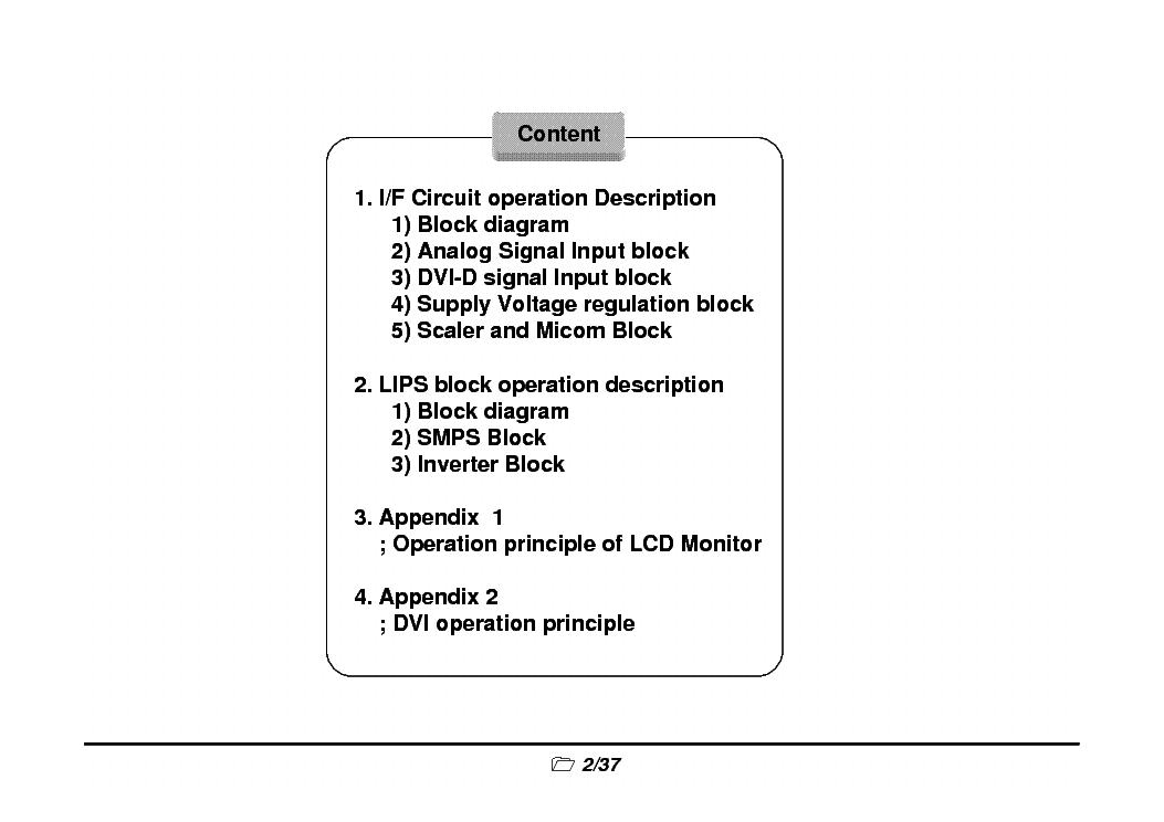 Lg L1752 L1952 L1719 L1919 Monitor Training Manual Service Manual Download  Schematics  Eeprom