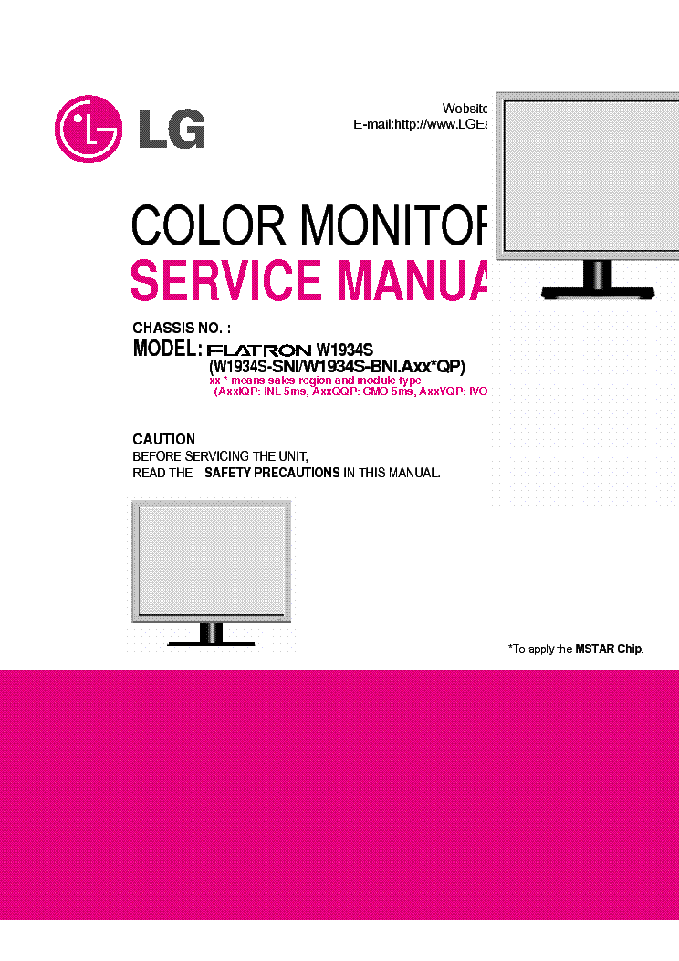 lg w1934s flatron service manual download schematics eeprom rh elektrotanya com lg flatron e2241 manual lg flatron w2261vp manual