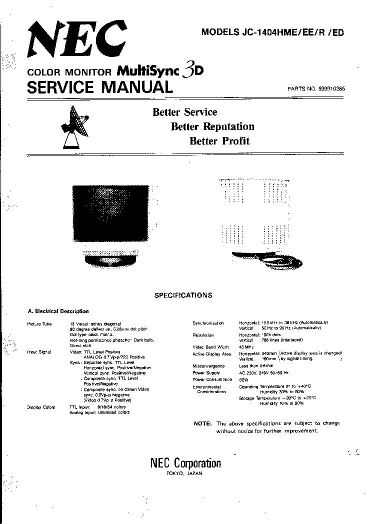nec jc1734vma service manual download schematics eeprom repair rh elektrotanya com