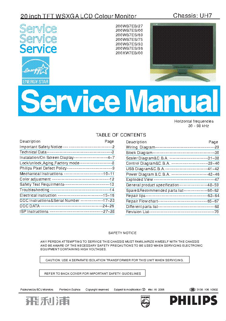 Инструкция Philips Lcd 20