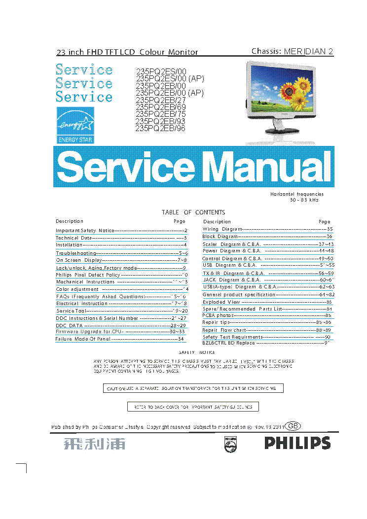 Philips 235PQ2EB/00 Monitor Driver for Windows Download