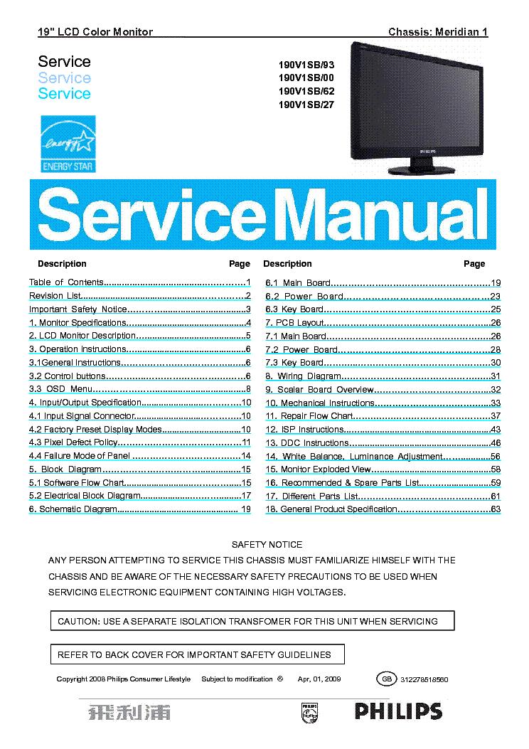 Philips 190V1SB/27 Monitor Windows