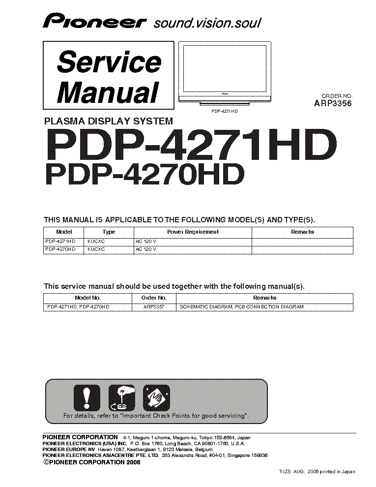 pioneer pdp 4270hd 4271hd service manual download schematics rh elektrotanya com Pro-Form 955R Recumbent Bike Manual Pioneer Man Working