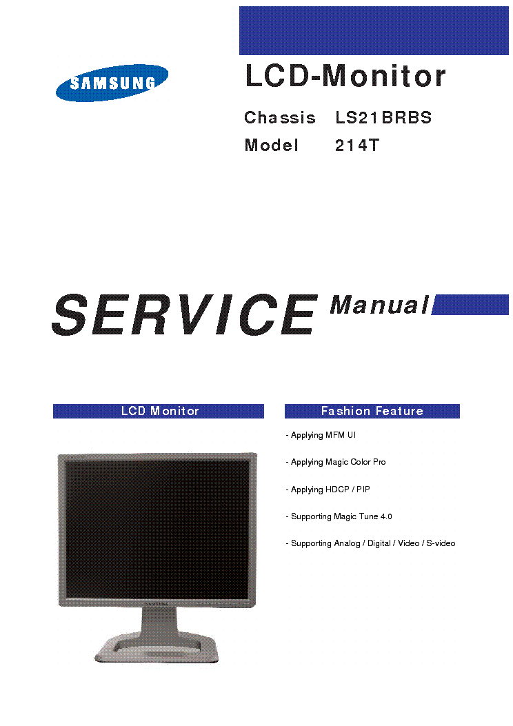 SAMSUNG 214T CH LS21BRBS Service Manual download ... - photo#14