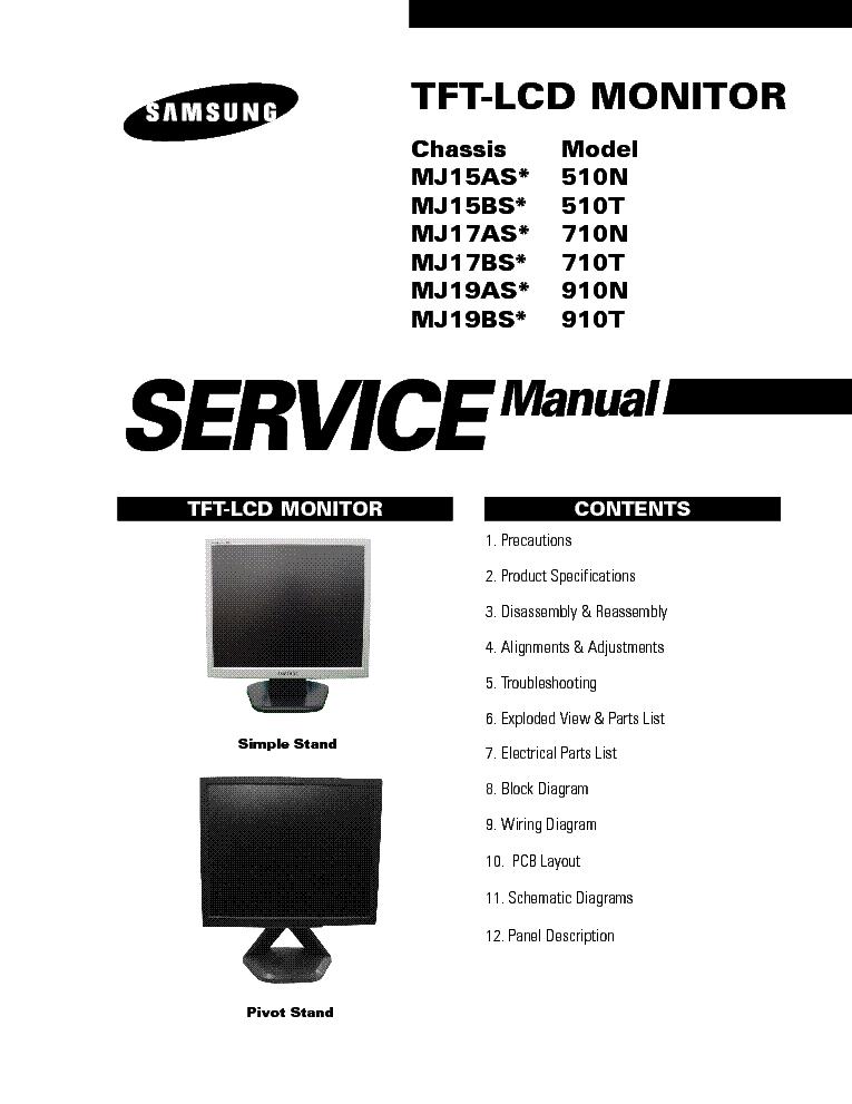 samsung 510n 510t 710n 710t 910n 910t service manual download rh elektrotanya com Repair Manuals samsung syncmaster 710n service manual download